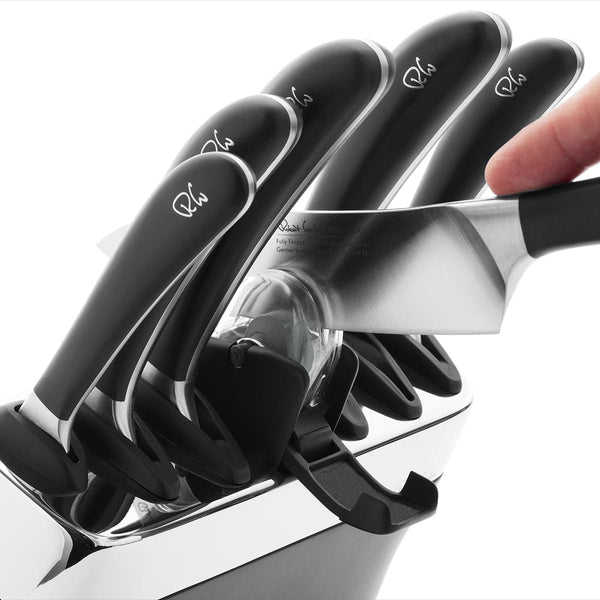Signature Knife Block Set with Sharpener - Sharpener