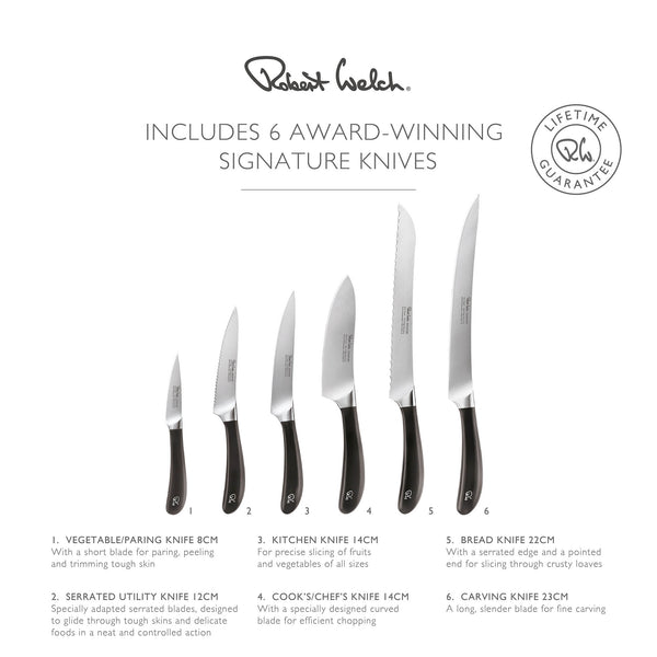 Includes 6 Award Winning Signature Knives