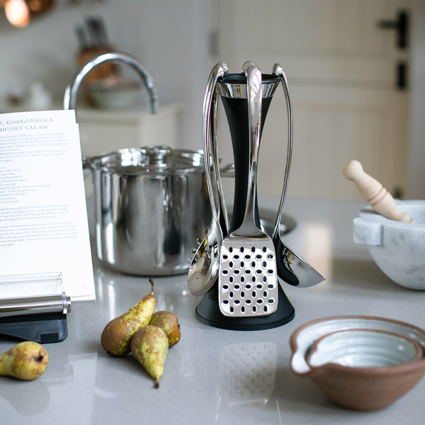 Signature Black Utensil Stand Set