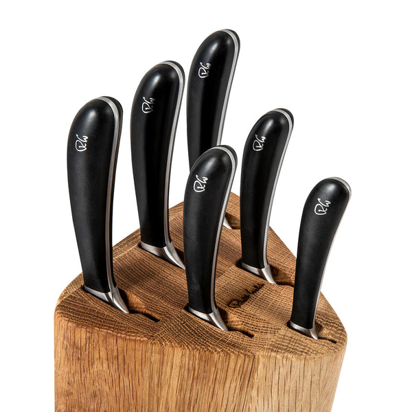 Signature Prism Oak Knife Block Set