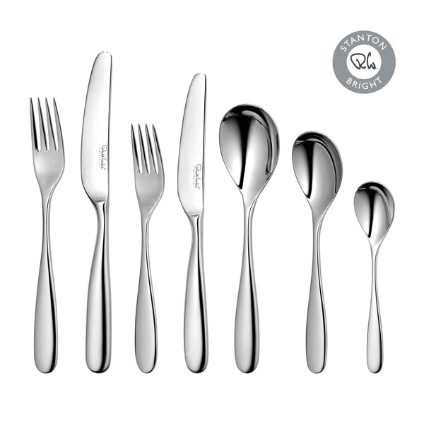 Stanton Bright Cutlery Set, 48 Piece including 6 Free Steak Knives for 6 People