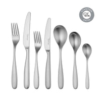 Stanton Satin Cutlery Set, 56 Piece for 8 People