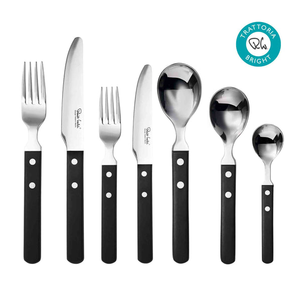 Trattoria Bright Cutlery Set, 42 Piece for 6 People