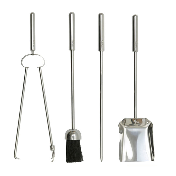Brunel Tall Fire Irons Set with Log Tongs - Set