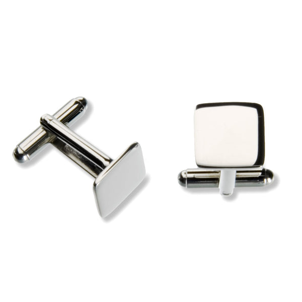 Stainless Steel Square Cufflinks (Bright)