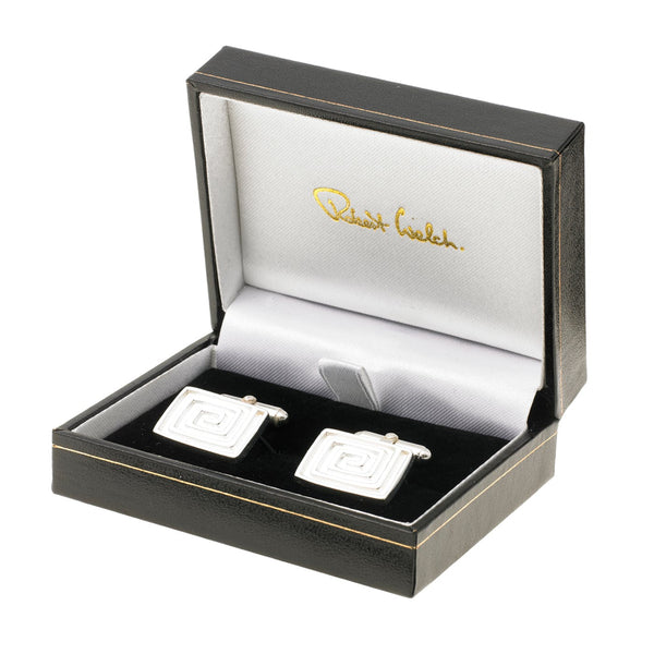 Sterling Silver Rectangular Cufflinks - Boxed