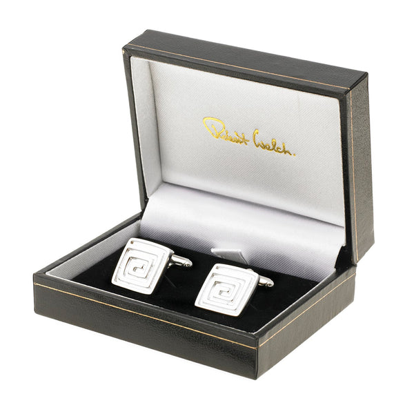 Sterling Silver Square Cufflinks - Boxed
