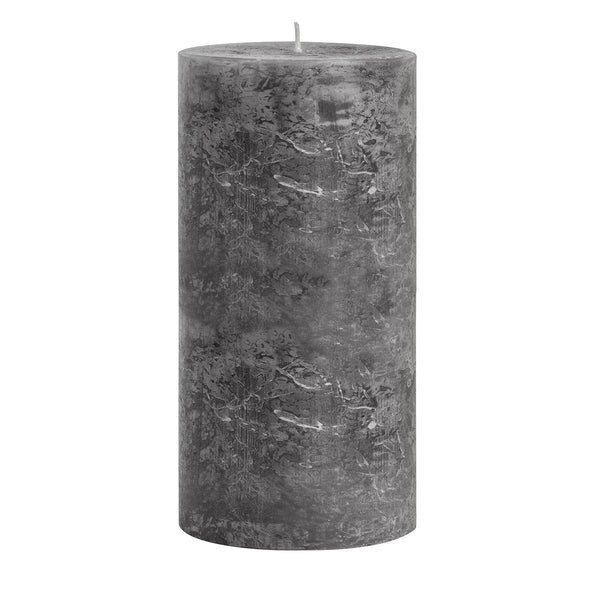 Anthracite Long-Burning Pillar Candle 20cm