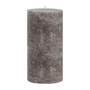 Taupe Long-Burning Pillar Candle 20cm