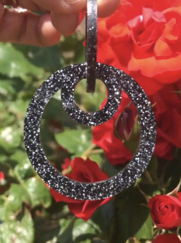Black Glitter Lavish Loops