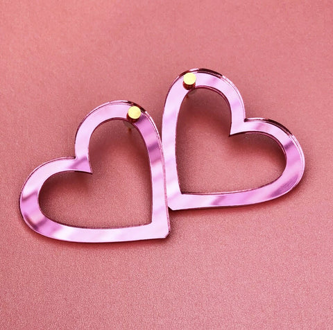 Metallic Pink Hearts