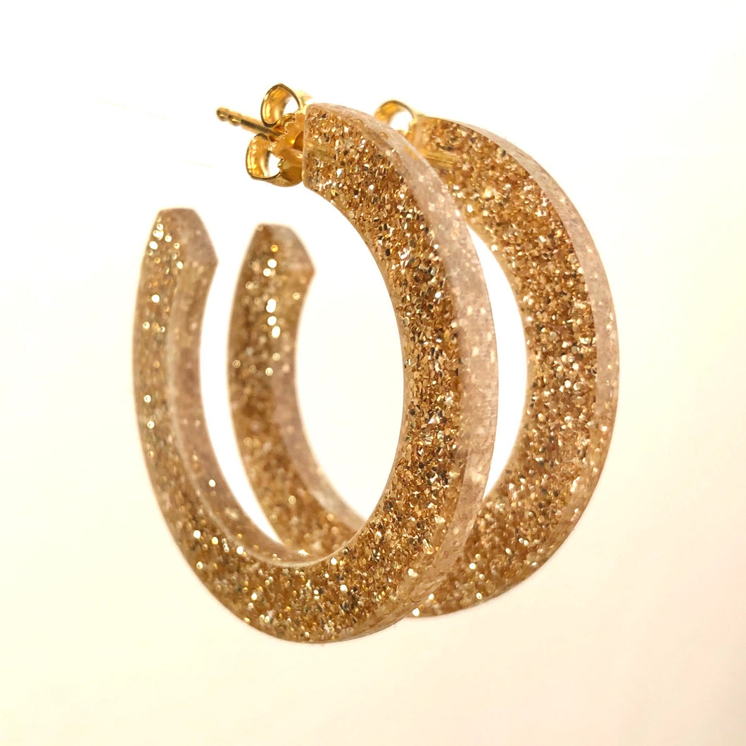 Golden Glitter Small Lovely Loops