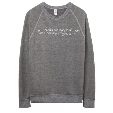 COMFY COZY ARE WE PULLOVER PERFECTION! COLLAB WITH JESSICA GARVIN- GRAY
