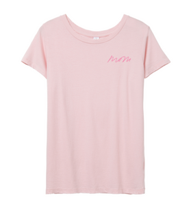 MOM Pink Distressed T-shirt