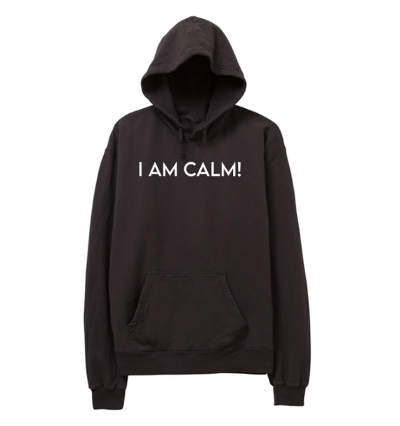 SALE- I AM CALM! DARK GREY PULLOVER