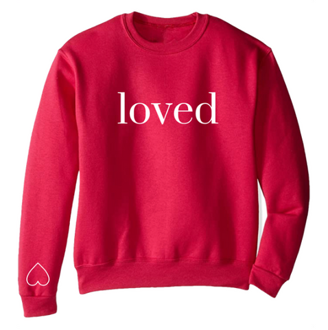 -BRAND NEW - TODDLER YOU ARE LOVED SWEATSHIRT