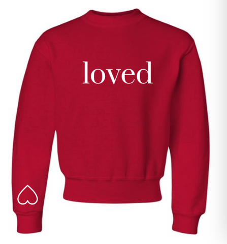 -BRAND NEW- YOUTH YOU ARE LOVED SWEATSHIRT
