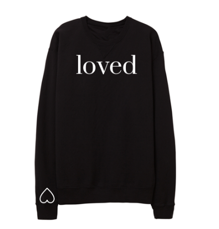-BRAND NEW- YOU ARE LOVED PULLOVER IN BLACK - PREORDER