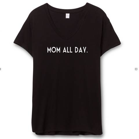 Brand New Mom All Day Shirt In Black