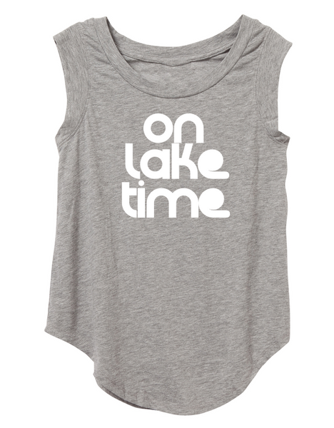 On Lake Time Cap Sleeve In Gray