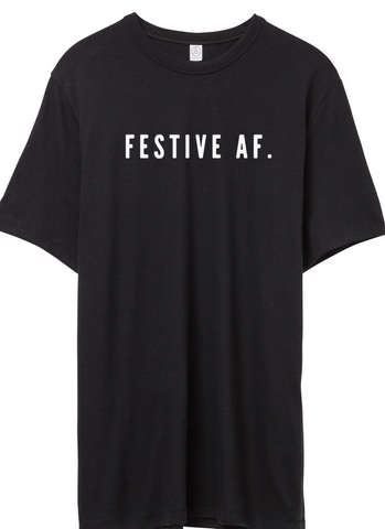 BRAND SPANKING NEW FESTIVE AF BLACK SHORT SLEEVE COLLAB WITH JESSICA GARVIN