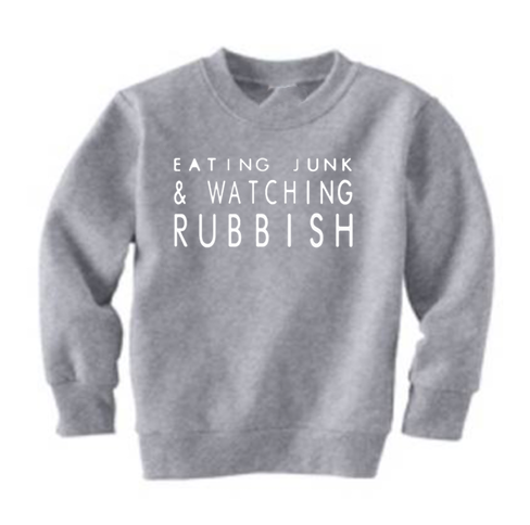 Eating Junk And Watching Rubbis Mini Sweatshirt! - Preorder