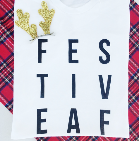FLASH SALE FESTIVE AF TSHIRT-SMALL BUSINESS SATURDAY