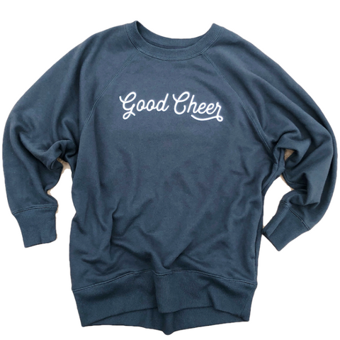 GOOD CHEER ASPHALT GRAY PULLOVER COLLAB WITH JESSICA GARVIN