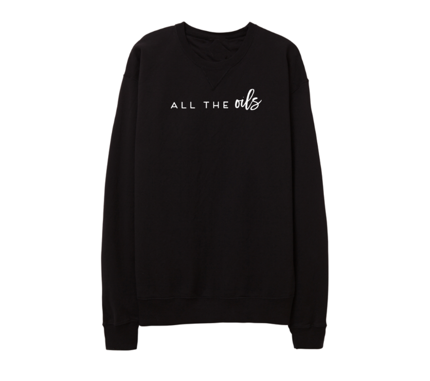 ALL THE OILS Black Pullover