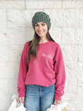 BRAND NEW MRS. CLAUS PULLOVER- COLLABORATION WITH JESSICA GARVIN