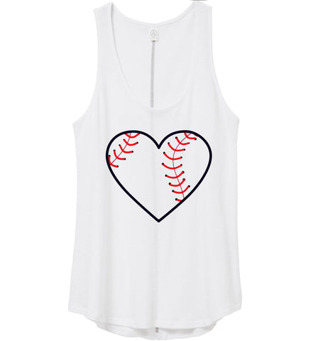 Sale I Heart Baseball Tank