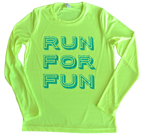 SALE RUN FOR FUN Running Long Sleeve Tee