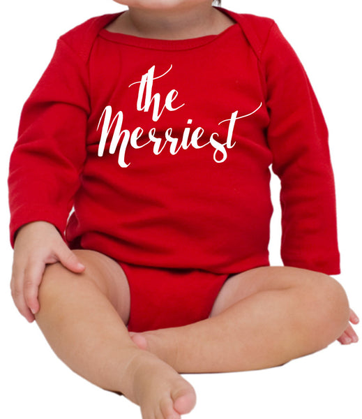 Christmas -limited qty- The Merriest Red And White Onesie