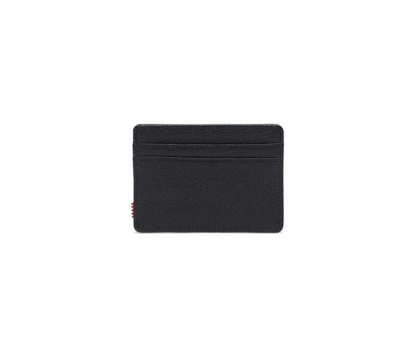 Herschel Charlie Leather RFID Wallet - Black Pebbled Leather - Little America Store