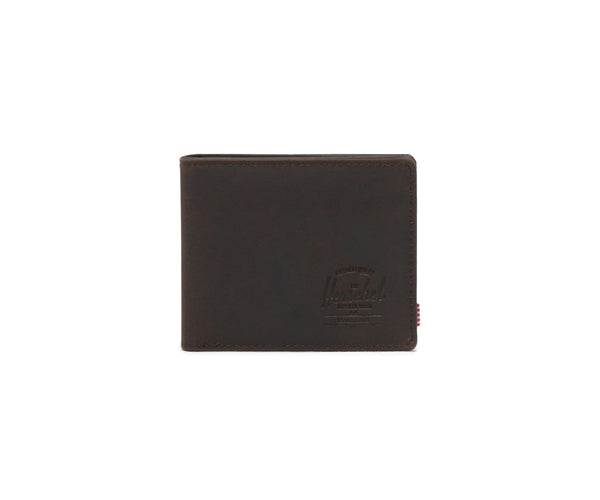 Herschel Hank Leather RFID Wallet - Nubuk Brown
