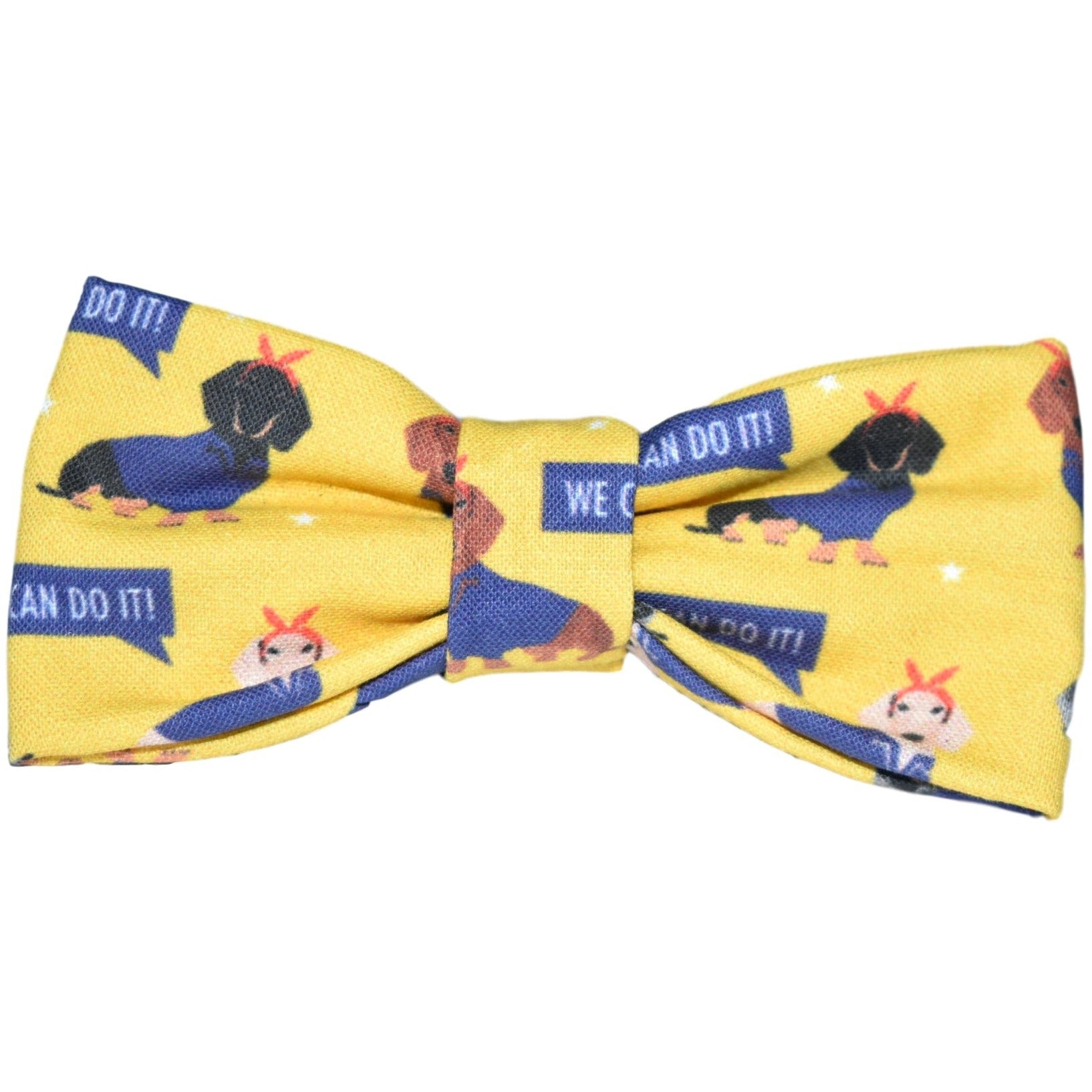 We Can Do It Dog Bow Tie