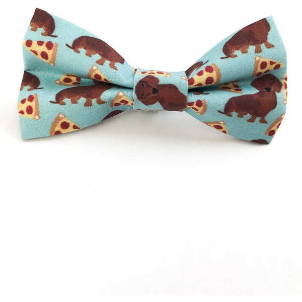 Pupperoni Pizza Bow Tie