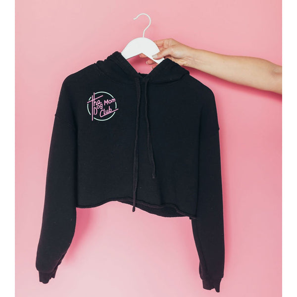 Dog Mom Club Cropped Hoodie - Dope Dog Co