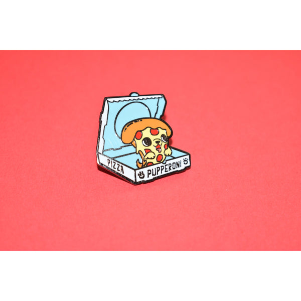Pupperoni Enamel Pin - Dope Dog Co