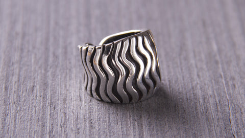 handmade sterling silver jewelry waves ring