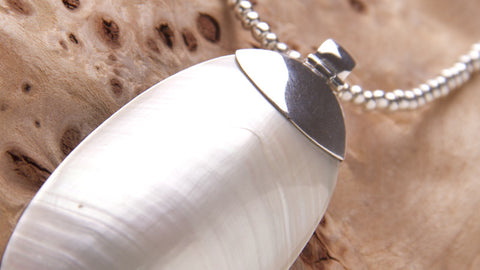 handmade sterling silver jewelry mother pearl pendant
