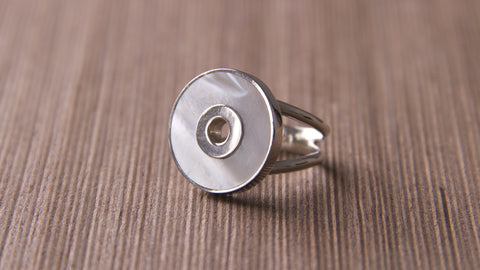 hand crafted silver jewelry mother pearl ring