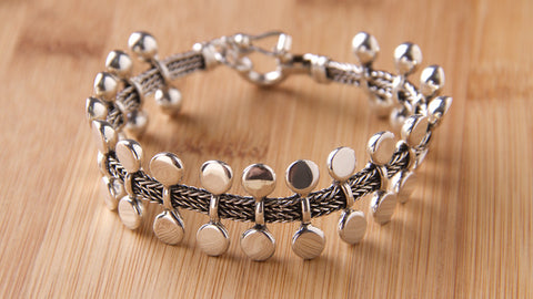handmade sterling silver jewelry union bracelet
