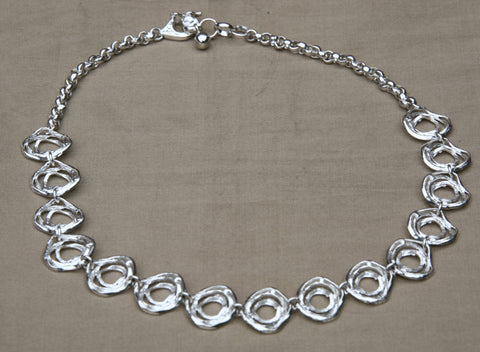 Handcrafted silver jewelry - necklace