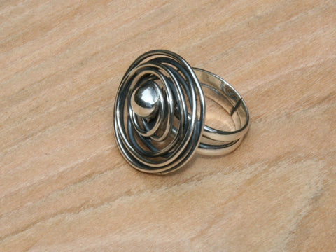 sterling silver hand crafted ring