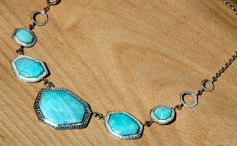 Aqua amazonite necklace