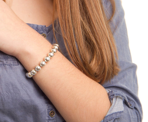 Classic Silver Beads bracelet