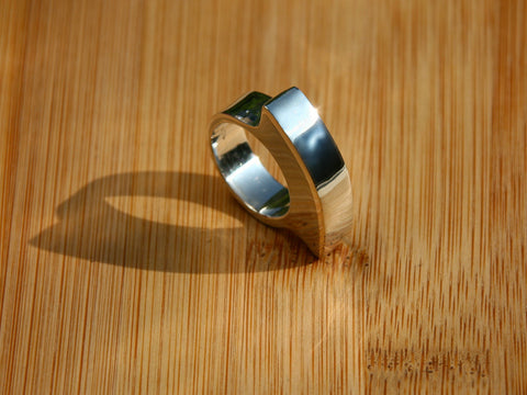 unique handcrafted minimalist silver ring