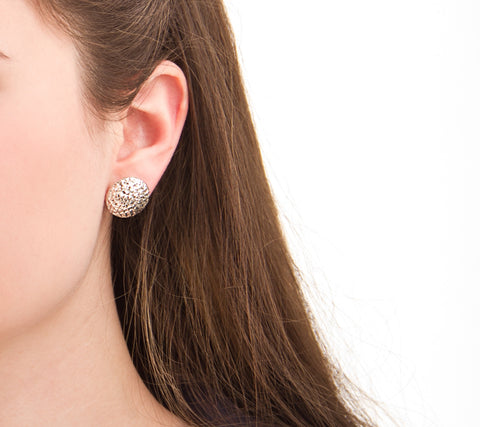 unique handmade silver jewelry sunshine post earrings