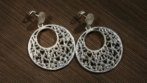 unique handmade filigrane earrings in sterling silver